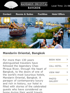 Mandarin Oriental - hotel page