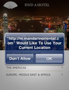 Mandarin Oriental - location page